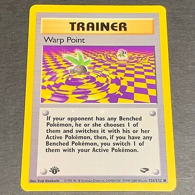 Pokemon 1st Ed. Gym Challenge Set COMMON Warp Point 126/132 - Near Mint (NM)