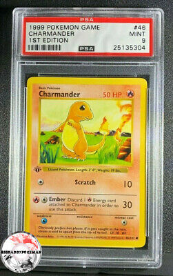 1999 Pokemon Base Set Charmander Shadowless 1st Edition #46 PSA 9 Mint