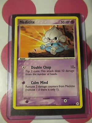 Pokemon Meditite 65/101 Hidden Legends Common *combined shipping*