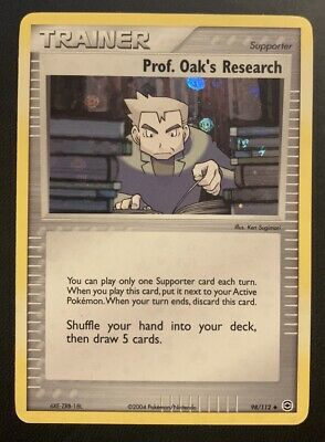 NM/M Prof. Oak's Research 98/112 Reverse HOLO EX FireRed & LeafGreen Pokemon