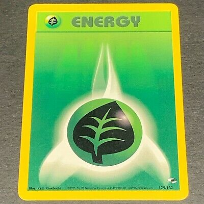 Pokemon Gym Heroes Set COMMON Grass Energy 129/132 - Near Mint (NM) Condition