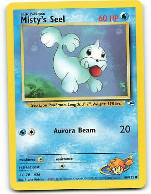 88/132 | Misty's Seel | Gym Heroes | Pokemon Card | Mint