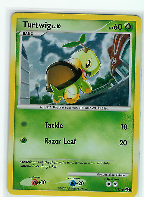 Pokemon Turtwig Holo # 17/17 - Pop Series 6 - Condition: LP
