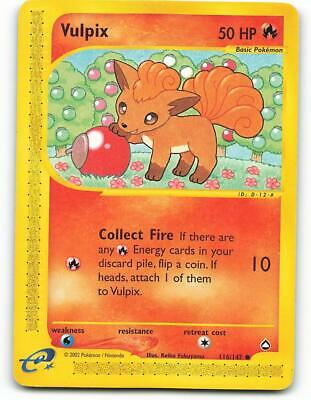116/147 | Vulpix | Aquapolis | Pokemon Card | Near Mint