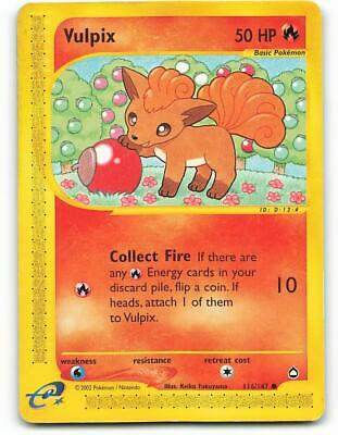 116/147 | Vulpix | Aquapolis | Pokemon Card | Light Played