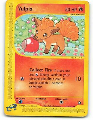 116/147 | Vulpix | Aquapolis | Pokemon Card | Played