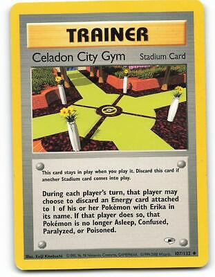 107/132 | Celadon City Gym | Gym Heroes | Pokemon Card | Excellent