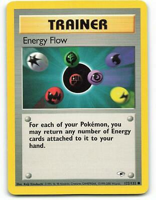 122/132 | Energy Flow | Gym Heroes | Pokemon Card | Excellent