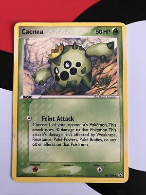 Pokemon Card Ex Power Keepers Cacnea Common 46/108 LIGHTY PLAYED Vintage Rare