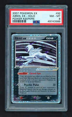 2007 Pokemon EX Power Keepers 92/108 Absol EX Holo PSA 8 NM+
