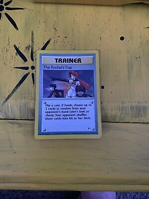 The Rocket's Trap 19/132 Gym Heroes Unlimited Pokemon Card