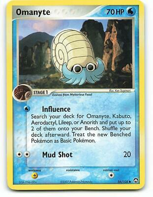 56/108 | Omanyte | EX Power Keepers | Pokemon Card | Good