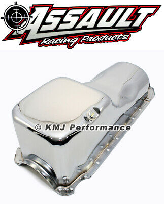 65-90 Chevy 396 454 Chrome Oil Pan - Stock Capacity 402 427 Big Block Bbc New