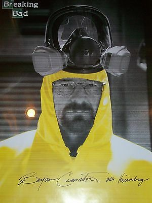 Bryan Cranston Authentic Hand Signed Breaking Bad 24x36 Poster  Must See* Rare!