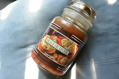 Yankee Candle Dulce De Leche 22oz Jar Ultra Rare Black Band