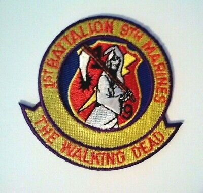 """1st Battalion 9th Marine Patch ( The Walking Dead ) 3"""""""