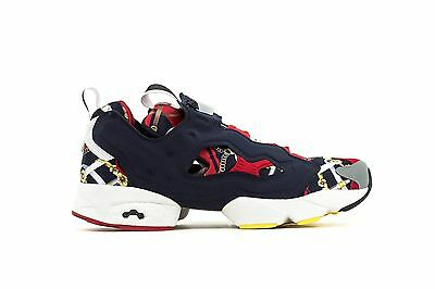 "Reebok X Invincible Instapump Fury Sz 11.5 ""grand Manege"" M48459 Red/navy"
