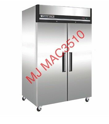New Maxx Cold M# Mcrt-49fd Commercial Top Mount Reach In Refrigerator Cooler