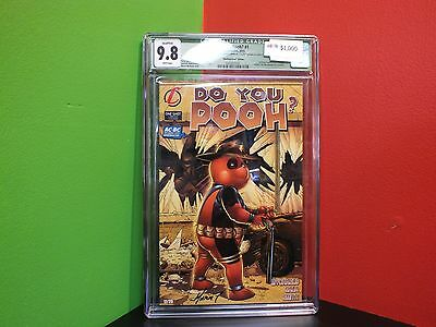 Cgc 9.8 Signed Walking Dead Cover Do You Pooh? #1