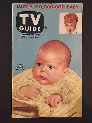 """1953 Lucille Ball, First Issue """"tv Guide"""" (no Label)"""