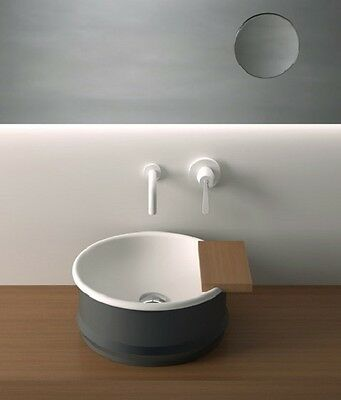 Agape Vieques Washbasins Over Countertop Round Washbasin With Floorstanding Acer