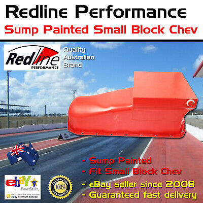 New Redline Sump Painted Oil Pan Fits Small Block Chev 307 327 350