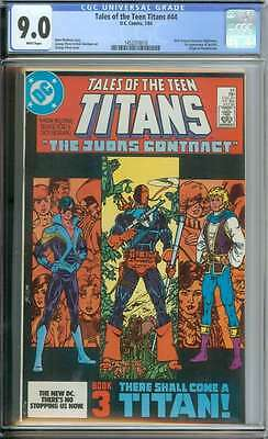 Tales Of The Teen Titans #44 Cgc 9.0 White Pages