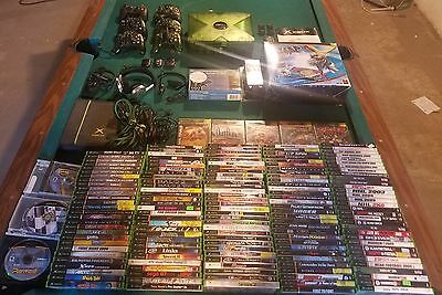Original Halo Edition Xbox Lot With 160 Games And Multiple Accesories, Headset