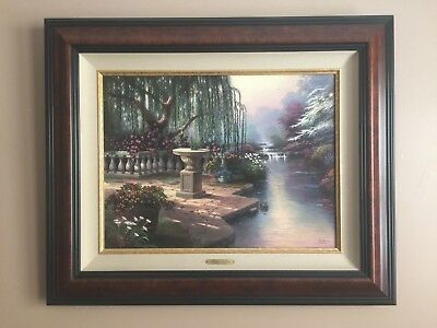 Thomas Kincade Hour Of Prayer 18x24 Canvas Signed And Framed