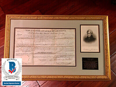 Andrew Jackson * Autograph 1831 Land Grant Signed * As President * Bas