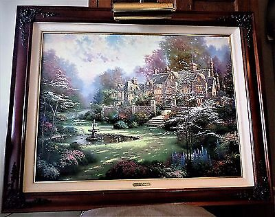 Thomas Kincade Gardens Beyond Spring Gate.... Spring Gate Iii Lithograph On Canv