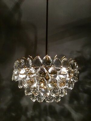 Bakalowits Chandelier Brass And Glass Mid Century Modern 1960s
