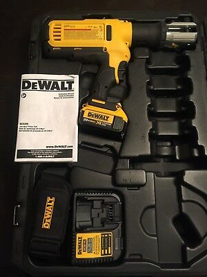 dewalt dce200 20v cordless pipe press tool, case, 1 battery, charger, strap new