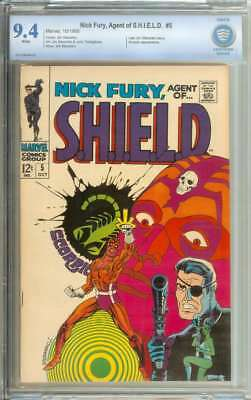 Nick Fury, Agent Of Shield #5 Cbcs 9.4 White Pages