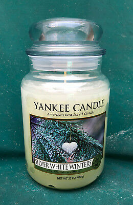 "Yankee Candle Retired ""silver White Winters"" ~my Favorite Things~22 Oz. Rare~new"