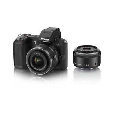 Used Nikon 1 V2 With 18.5mm F/1.8 And 10-30mm Vr Black Excellent Free Shippng