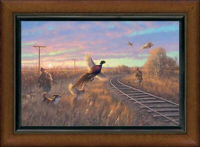 Walking The Line - Pheasant Framed Limited Edition Canvas By Michael Sieve