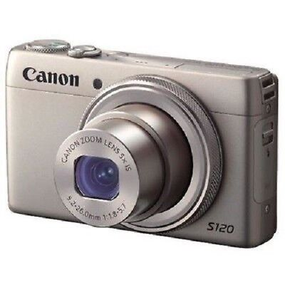 Used Canon Powershot S120 12.1 Mp Cmos Silver Excellent Free Shippng
