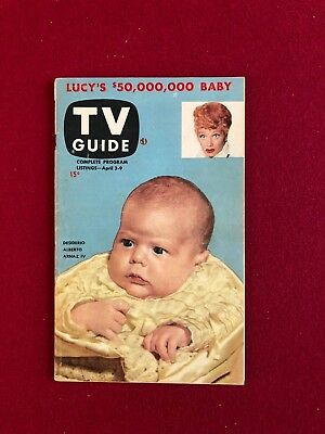 """1953, Lucille Ball, """"tv Guide"""" (first Issue)  (scarce) (no Label) (i Love Lucy)"""