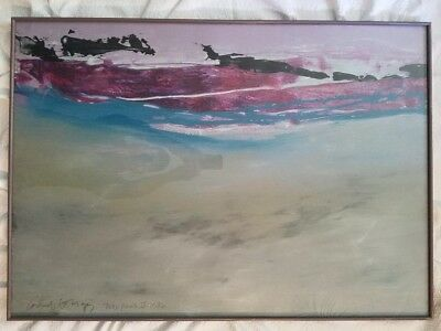 Tide Pool & Tide Pool Ii Painter Carol Grigg Signed Mixed Media Very Collectible
