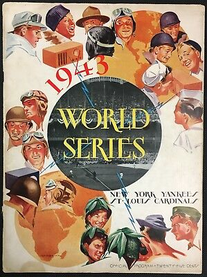 1943 World Series Program Yankee Stadium New York Vs St Louis Cardinals Mlb