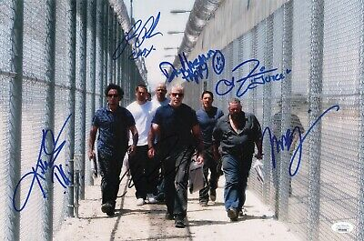 "Sons Of Anarchy Cast(x6) Authentic Hand-signed ""charlie Hunnam"" 11x17 Photo Jsa"