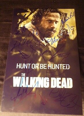 "The Walking Dead Cast(x14) ""andrew Lincoln""auth. Hand-signed 11x17 Photo (proof)"