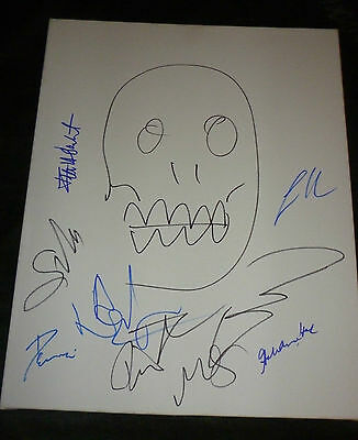 The Walking Dead Cast (x9) Signed/sketch Robert Kirkman 16x20 Canvas (a.lincoln)