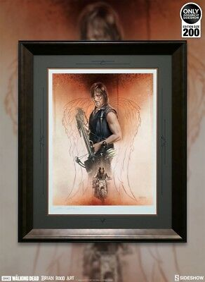 Sideshow: Sold Out (new) The Walking Dead The Drifter Daryl Dixon (framed)#8/200