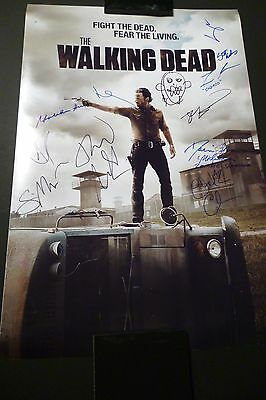 "The Walking Dead Cast(x11) Hand-signed 20x30 Photo ""scott Wilson"" (exact Proof)"