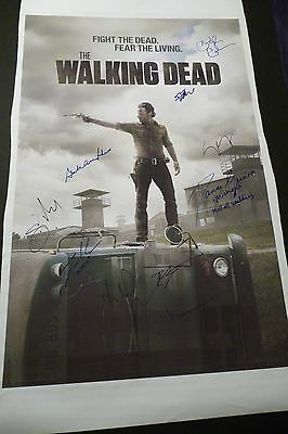 "The Walking Dead Cast(x10) Hand-signed 20x30 Canvas ""scott Wilson""(exact Proof)"