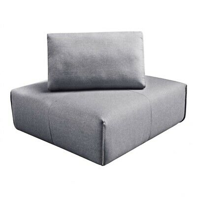 """42.5"""" W Sectional Corner Chair Light Grey 100% Polyester Solid Wood Frame"""