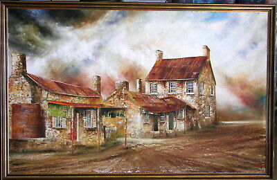 Maynard Waters (1936-) Large Original Oil Painting Historic Houses Goulburn Nsw