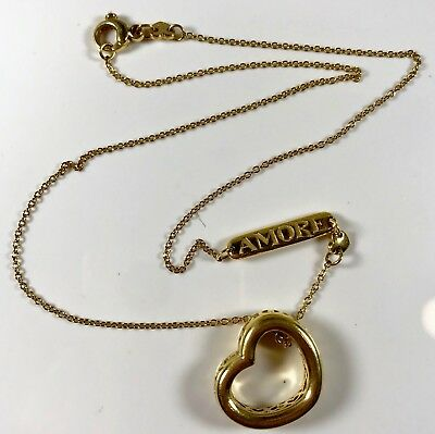 Amazing Pasquale Bruni Designer 18k Gold Amore Heart Necklace 2211al Retired
